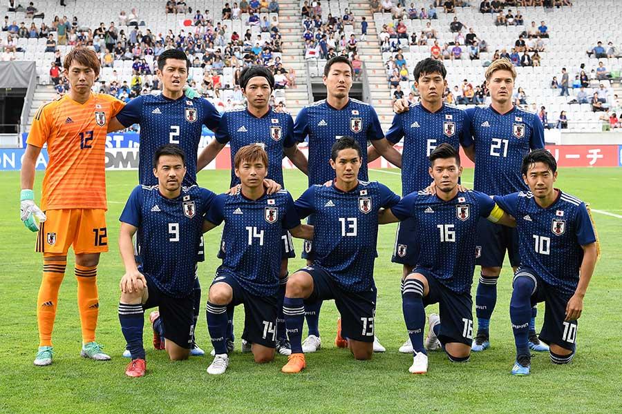 W杯前の最終調整でパラグアイ代表と対戦した日本代表【写真:Getty Images】