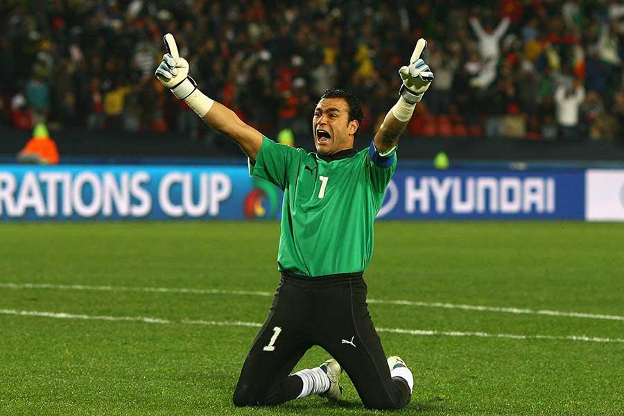 エジプト代表GKエサム・エルハダリ【写真:Getty Images】