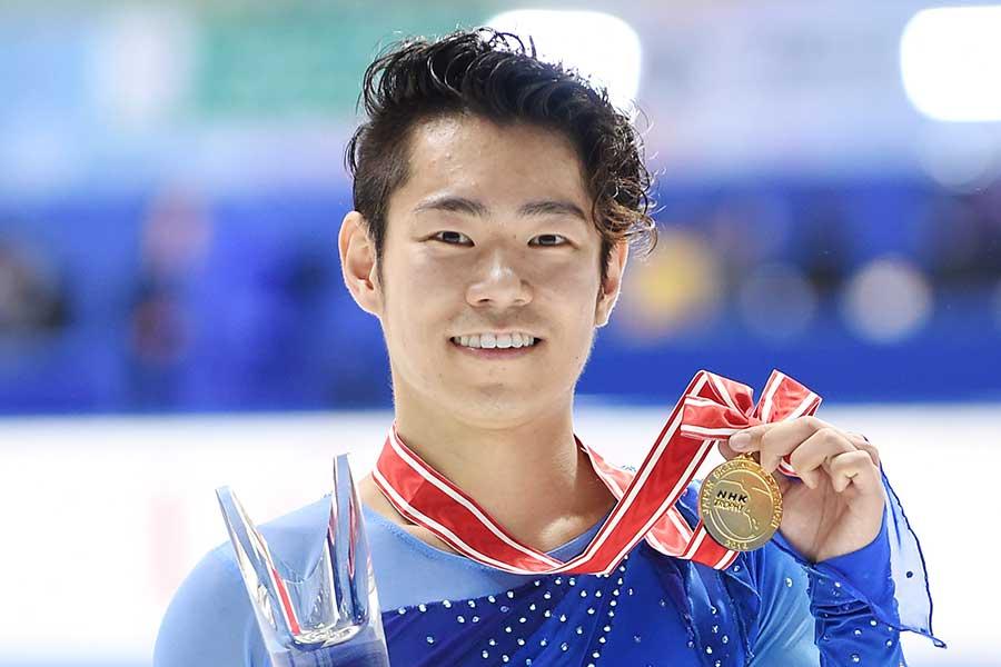 2014年NHK杯で優勝した村上大介【写真:Getty Images】