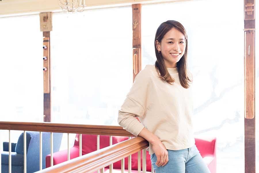 元体操日本代表の岡部紗季子さん【写真:松橋晶子】