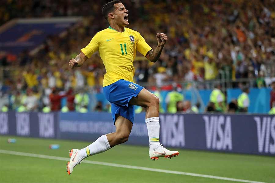 スイス戦で得点を挙げたブラジル代表MFフェリペ・コウチーニョ【写真:Getty Images】
