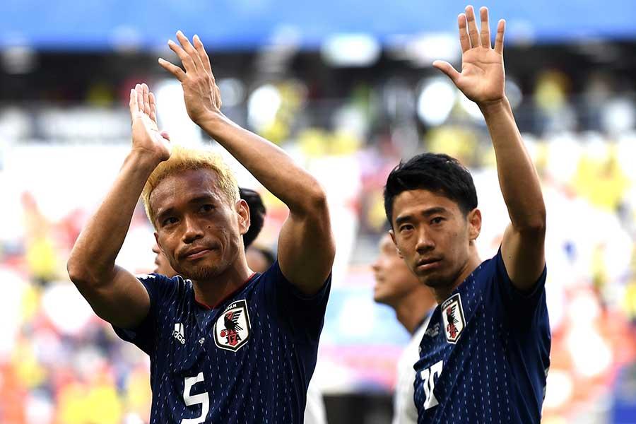 日本代表・長友佑都と香川真司【写真:Getty Images】