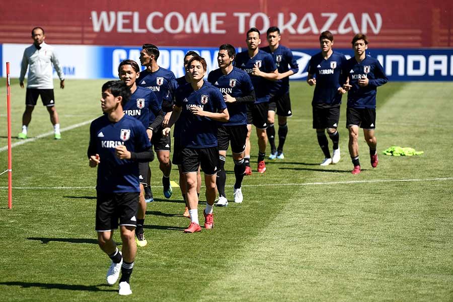 19日にコロンビア戦を迎えるサッカー日本代表【写真:Getty Images】