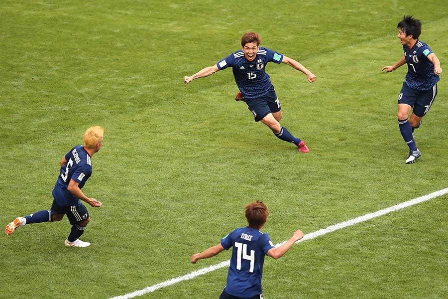 ゴール後の爆発的な喜び方に焦点が当てられた大迫【写真:Getty Images】