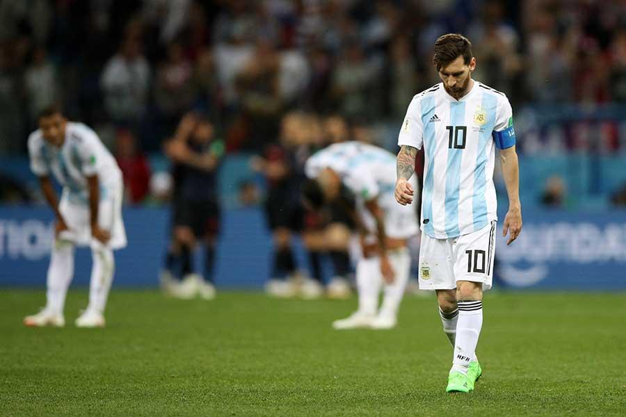 敗退のピンチに陥ったアルゼンチン【写真:Getty Images】