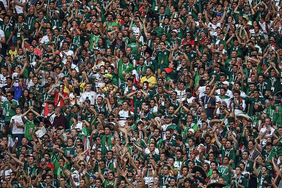 ドイツ戦を観戦するメキシコサポーター【写真:Getty Images】