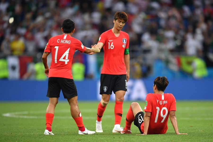 韓国代表はメキシコ代表に1-2で敗れた【写真:Getty Images】
