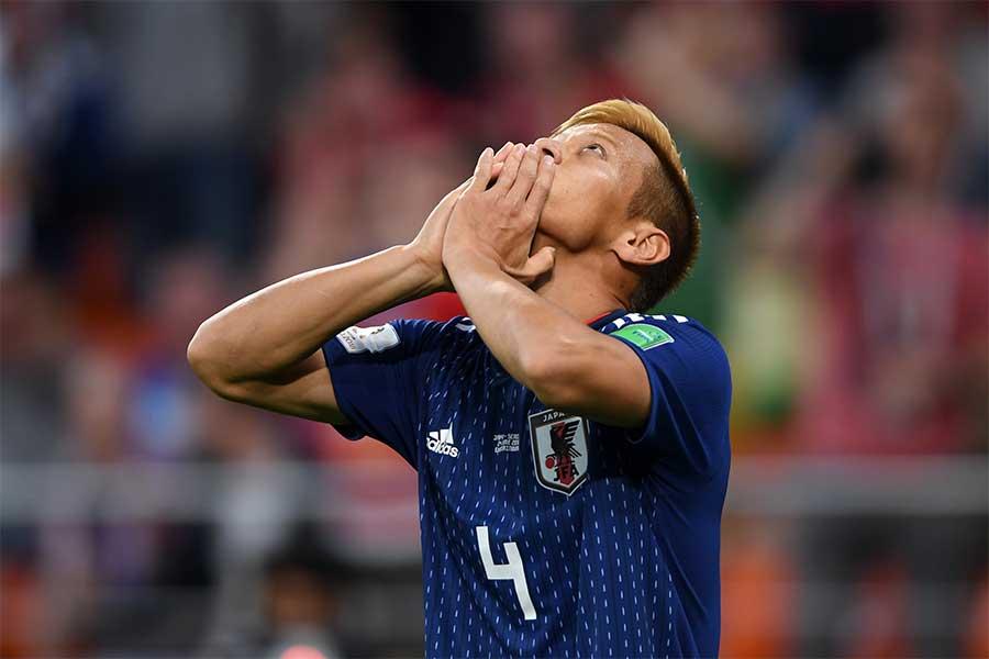 W杯3大会連続でゴールをマークした日本代表・MF本田圭佑【写真:Getty Images】