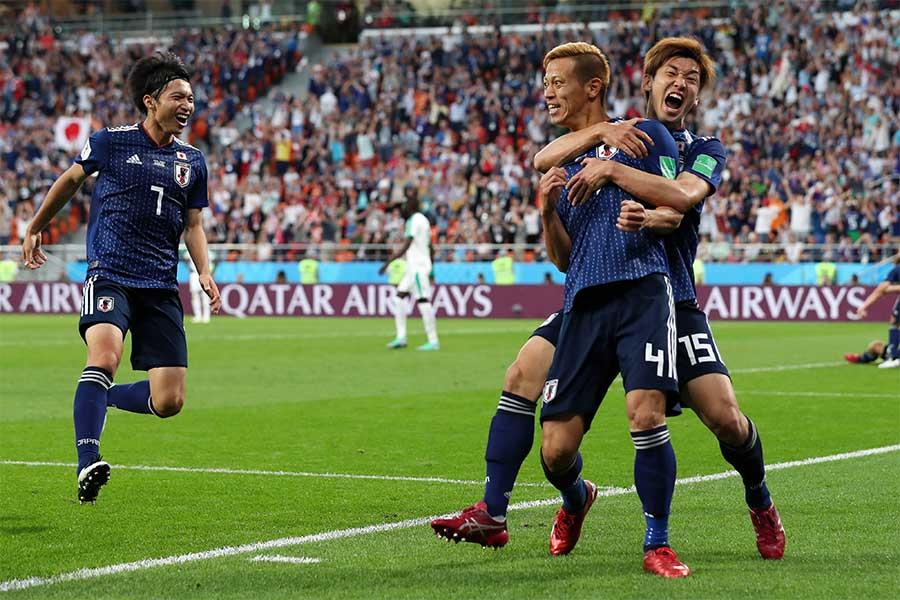 MF本田の同点弾で日本はセネガルと2-2で引き分けた【写真:Getty Images】