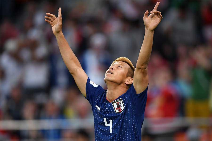 ロシアW杯に出場した本田圭佑【写真:Getty Images】