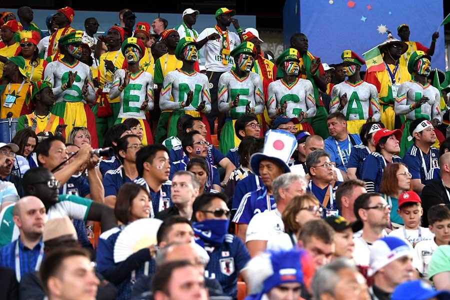 両国ファンが駆け付けた日本対セネガル【写真:Getty Images】
