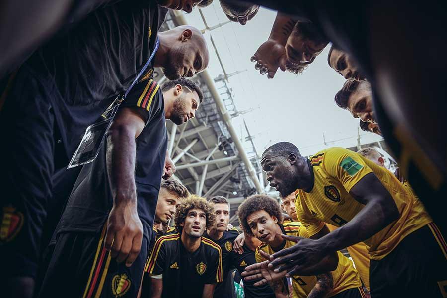 連勝で早々と決勝トーナメント進出を決めたベルギー代表【写真:Getty Images】