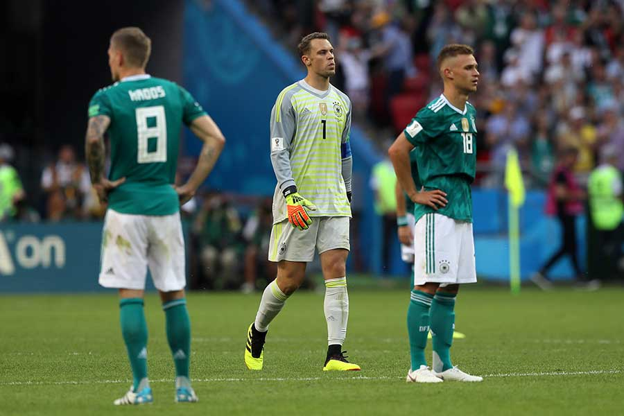 敗退が決まったドイツ代表【写真:Getty Images】