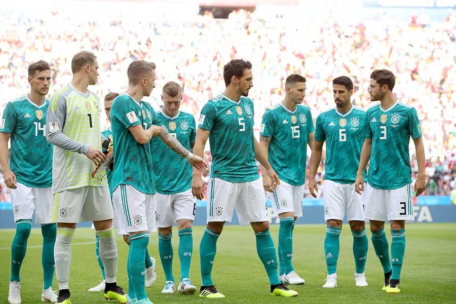 同国史上初のW杯1次リーグ敗退を喫したドイツ代表【写真:Getty Images】