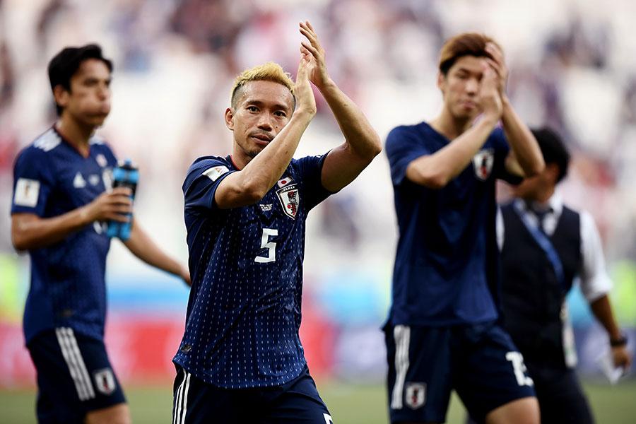 決勝トーナメント進出を決めた日本代表【写真:Getty Images】