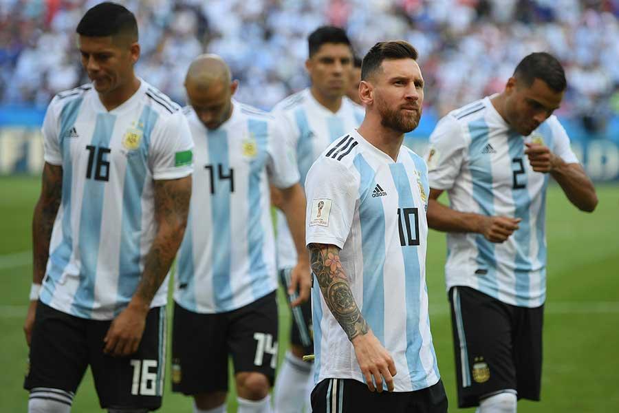 決勝トーナメント1回戦でアルゼンチンはフランスに3-4で敗戦【写真:Getty Images】