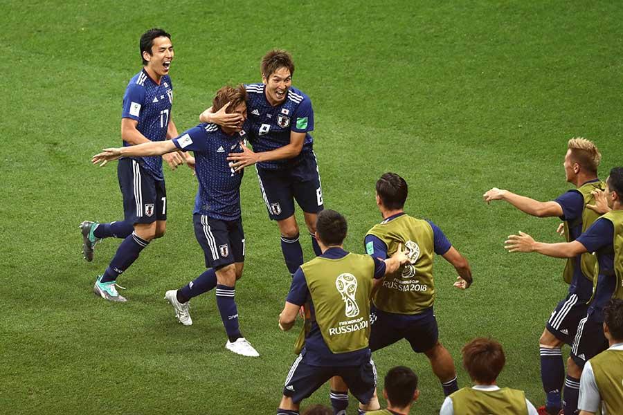 一時は2点をリードしながらも決勝トーナメント1回戦で日本はベルギーに2-3で敗れ、史上初の8強進出を逃した【写真:Getty Images】