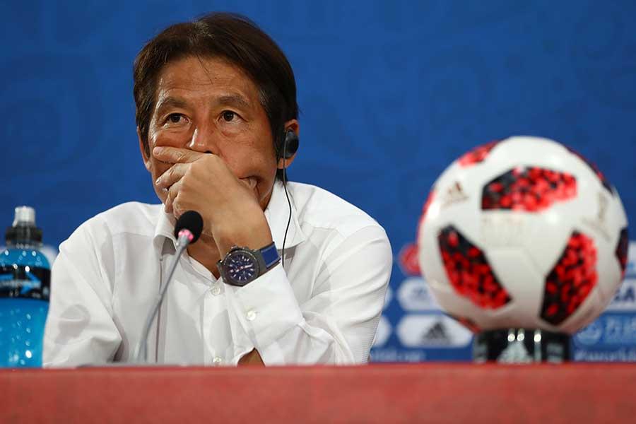 西野監督率いる日本代表は8強まであと一歩というところまで迫った【写真:Getty Images】
