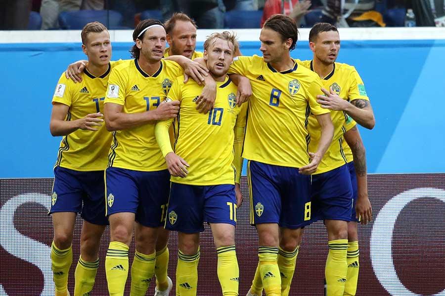 8強入りを決めたスウェーデン【写真:Getty Images】