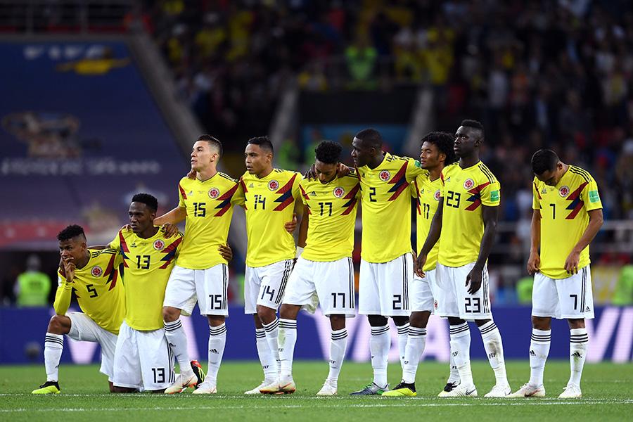 イングランドとのPK戦に敗れて敗退が決まったコロンビア【写真:Getty Images】