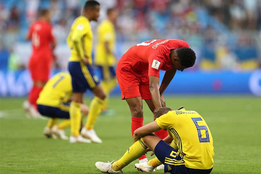 イングランドに敗れ、敗退が決まったスウェーデン【写真:Getty Images】