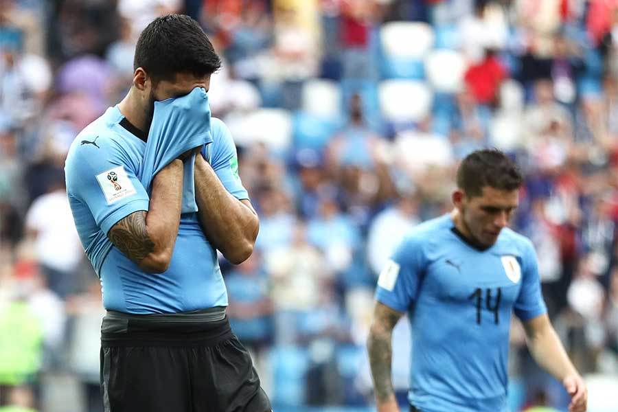 フランスに敗れたウルグアイ【写真:Getty Images】