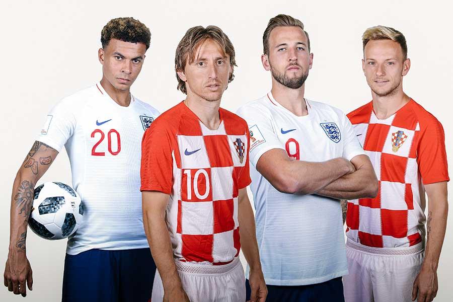 準決勝での対戦となるイングランドとクロアチア【写真:Getty Images】