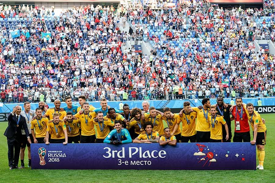ワールドカップ過去最高の3位となったベルギー代表【写真:Getty Images】