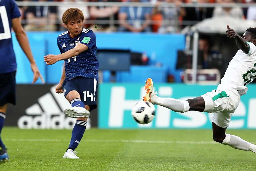 ワールドカップで世界を驚かせる活躍を見せた乾貴士【写真:Getty Images】