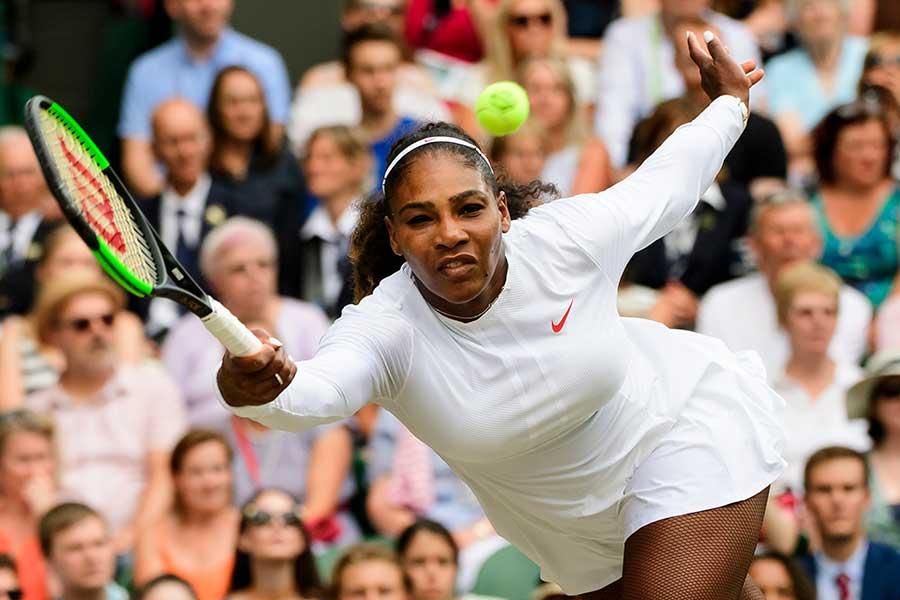 ウィンブルドン女子シングルス決勝でアンゲリク・ケルバーに敗れたセリーナ・ウィリアムズ【写真:Getty Images】