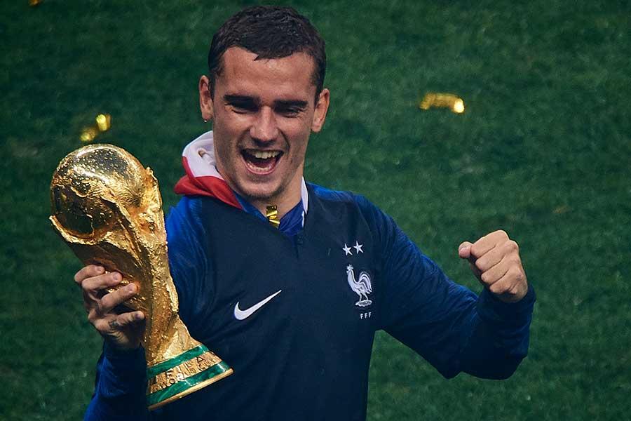 決勝のPKゴールを決めたフランス代表・グリーズマン【写真:Getty Images】