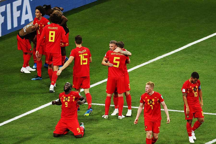 日本戦で2点のビハインドから見事な逆転勝利を収めたベルギー【写真:Getty Images】
