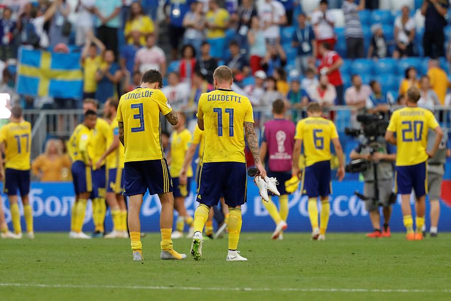 4強進出を狙ったスウェーデン代表だがイングランドの壁に跳ね返された【写真:Getty Images】