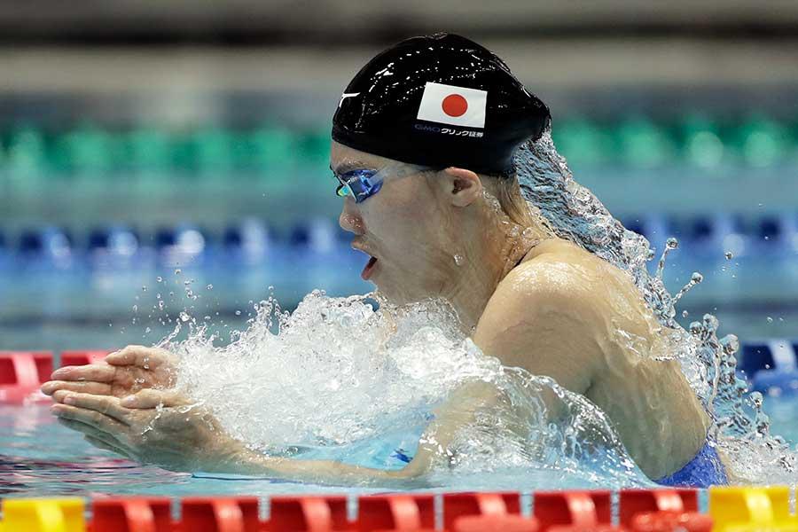 女子100メートル平泳ぎで青木玲緒樹は3位に【写真:Getty Images】