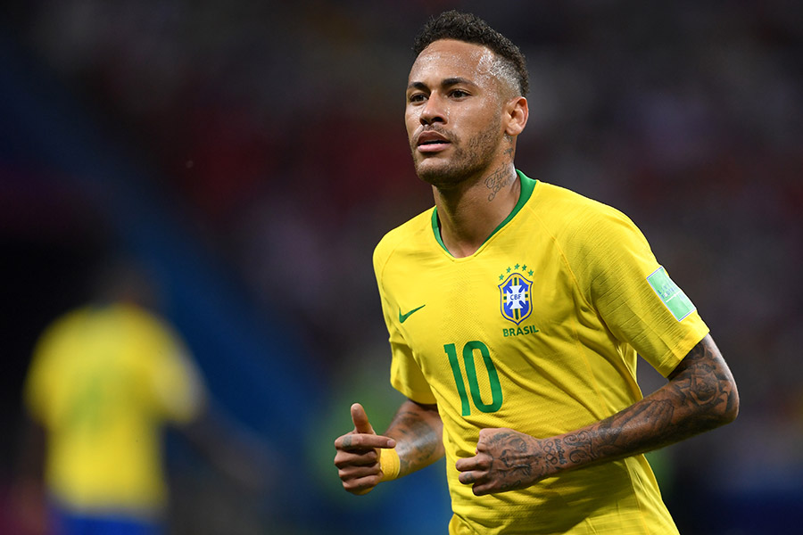 W杯は8強で敗退したブラジルのネイマール【写真:Getty Images】