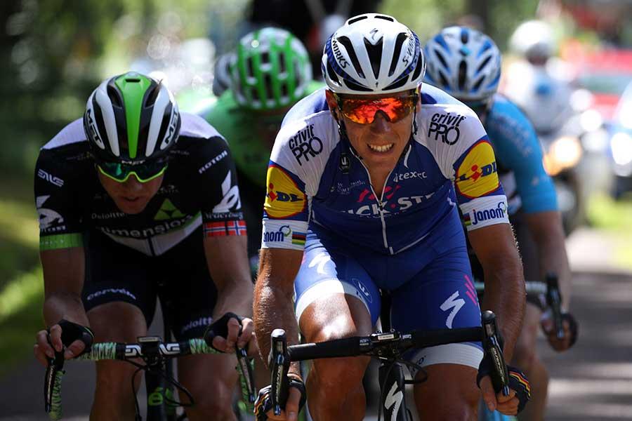 ツール・ド・フランスでアクシデントに見舞われたフィリップ・ジルベール【写真:Getty Images】
