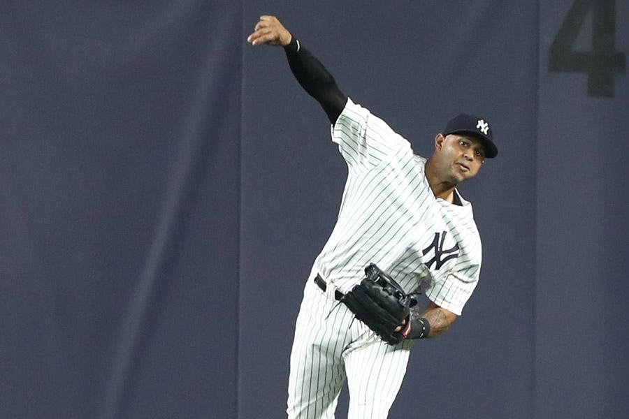 強肩に定評のあるヤンキースのヒックス【写真:Getty Images】