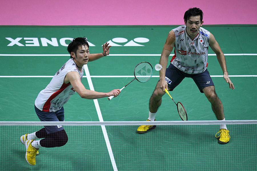 世界選手権2大会連続メダルに挑む園田、嘉村の「ソノカム」ペア【写真:Getty Images】