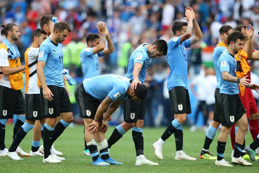 決勝トーナメント準々決勝でウルグアイはフランスに敗戦【写真:Getty Images】