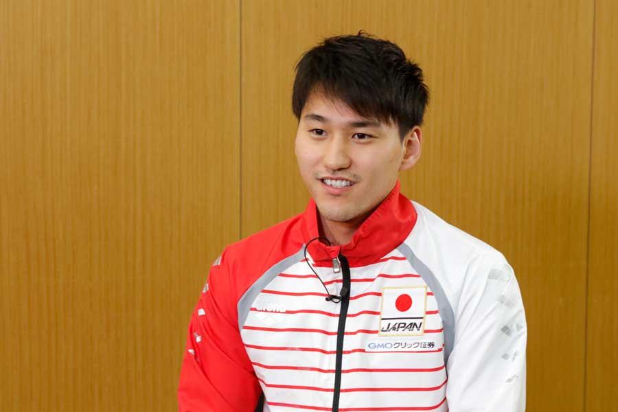 初代表となった男子背泳ぎ・砂間敬太【写真提供:テレビ朝日】