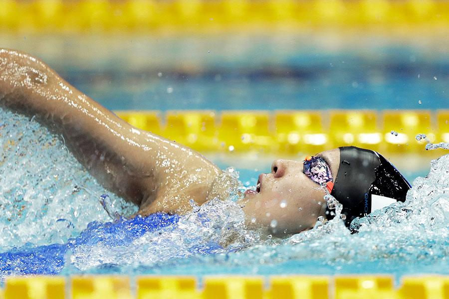 女子400メートル個人メドレーで悲願の国際大会金メダルを獲得した大橋悠依【写真:Getty Images】