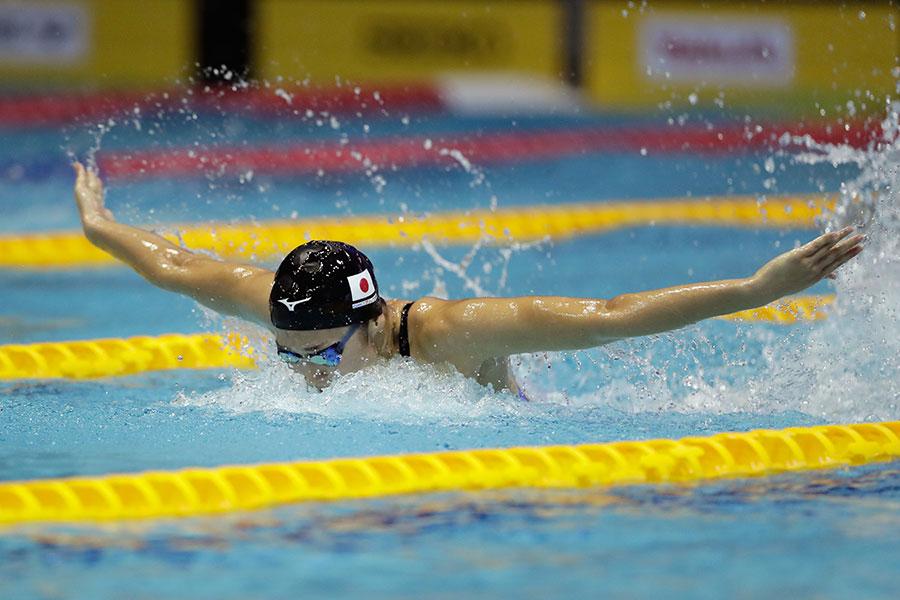 56秒08の大会新で初優勝した池江璃花子【写真:Getty Images】