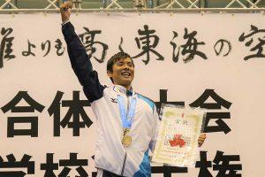 男子200メートル個人メドレーは松本周也(伊東=3年)が優勝【写真:編集部】