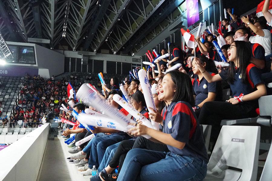 バドミントンは多くのインドネシア国民が注目し、誇りを持っている競技【写真:平野貴也】