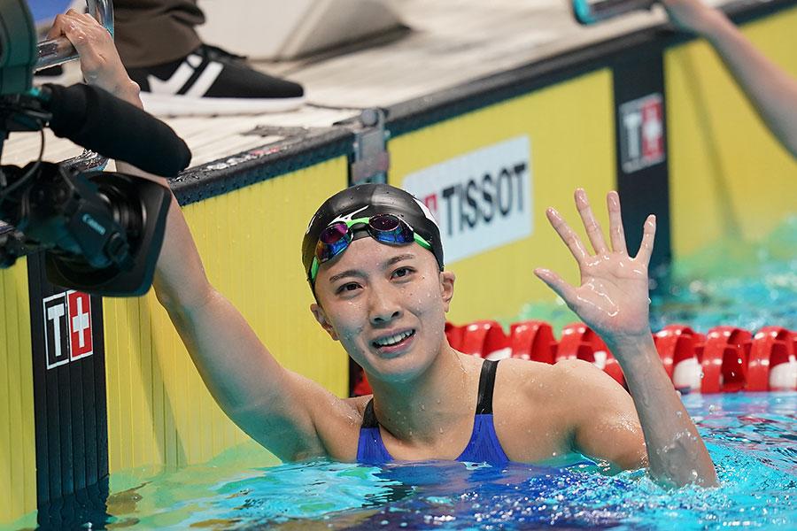 女子400メートル個人メドレーで優勝した大橋悠依【写真:Getty Images】