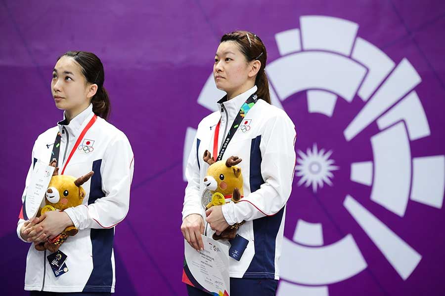 銀メダルを獲得したタカマツペア【写真:Getty Images】