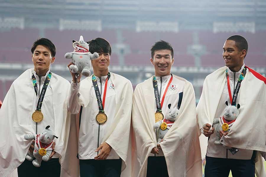 バンコク開催の1998年以来20年ぶりの優勝を飾った陸上日本代表【写真:Getty Images】