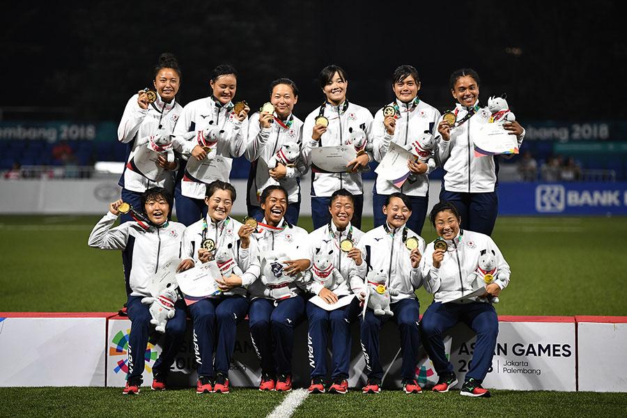 中国を破り初優勝となった7人制ラグビー女子代表【写真:Getty Images】