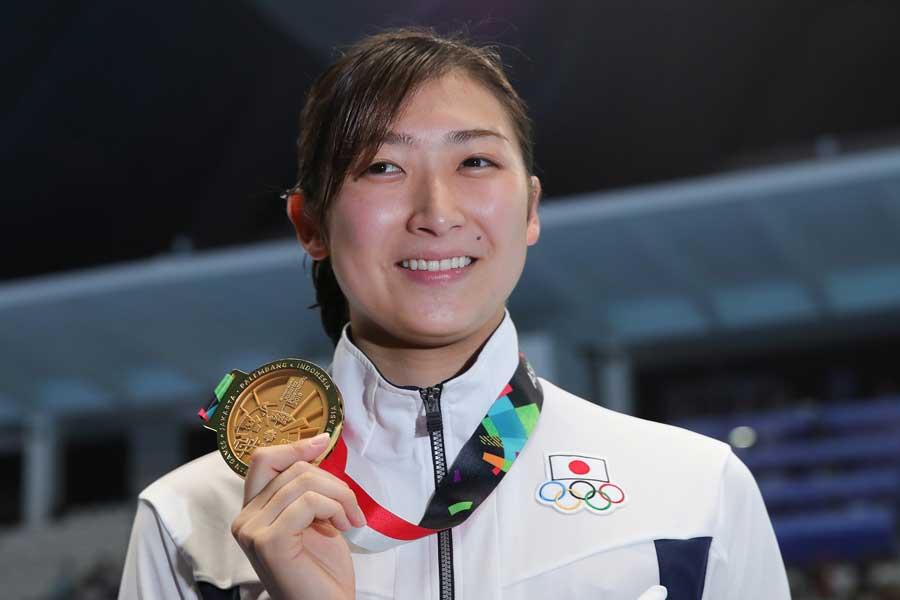 池江璃花子は今大会6冠で大会MVPに輝いた【写真:Getty Images】