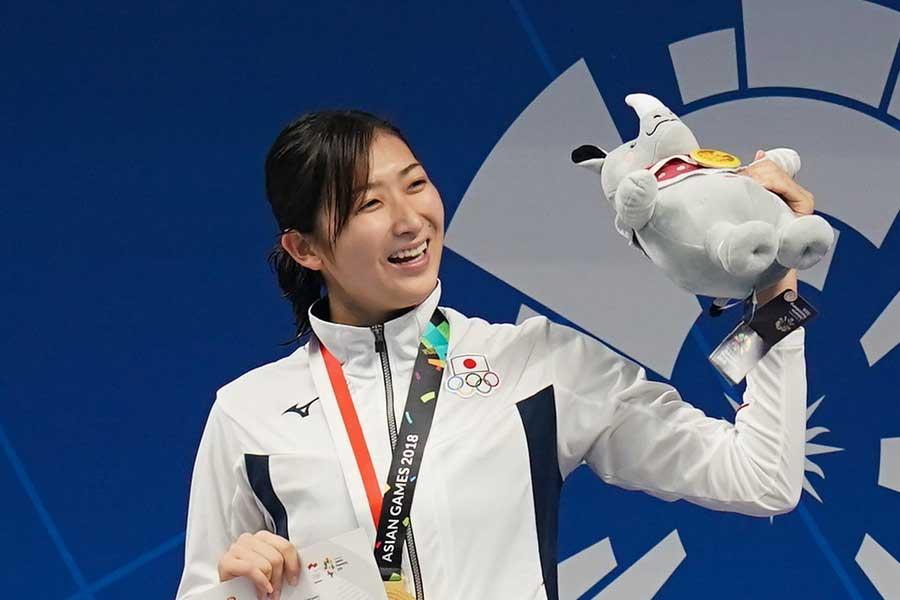アジア大会で6冠を達成した競泳の池江璃花子【写真:Getty Images】